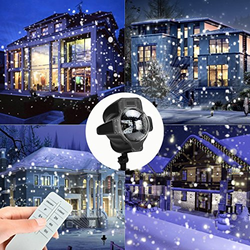 Tomshine Led Snowflake Projector Light Outdoor Snow Lamp