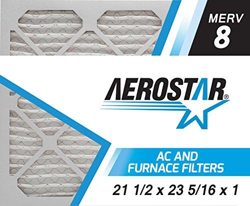 Aerostar Pleated Air Filter Merv 8 16 3 8 215 21 1 2 215 1 Pack