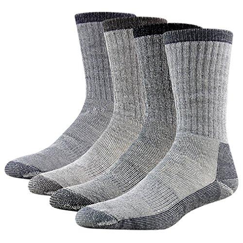 Merino Wool Hiking Socks Rtzat Unisex Silver