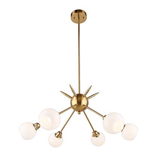 12 Light Sputnik Chandelier Brass Flush Mount Ceiling