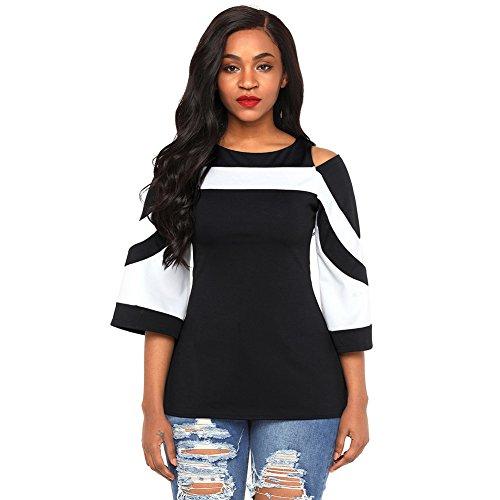 a842f26f9db Women sexy blouse long sleeve split back lace splice bowknot tops t-shirt  clearance! women blouse