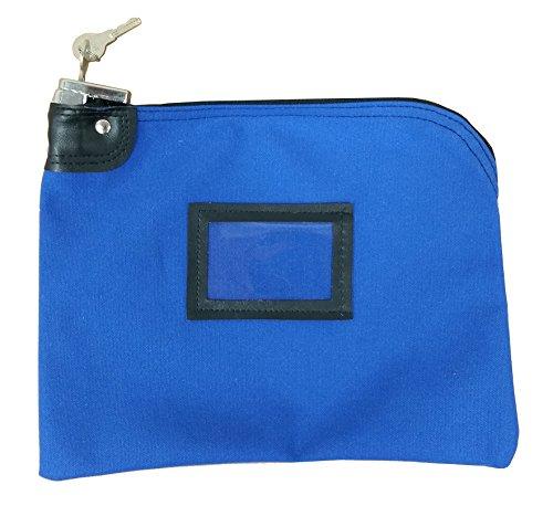 Locking Bank Bag Canvas Security Navy Blue Skrowkni