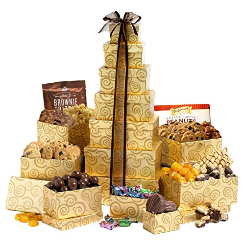 Chocolate Pretzel Twists Dunmore Candy Kitchen: Broadway Basketeers Festive Gift Tower