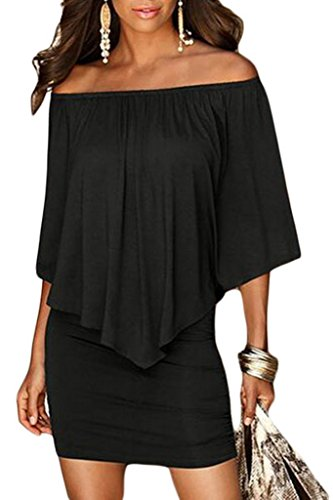 09fec1907f79 MakeMeChic Women s Off The Shoulder Short Sleeve Romper Party Dress ...