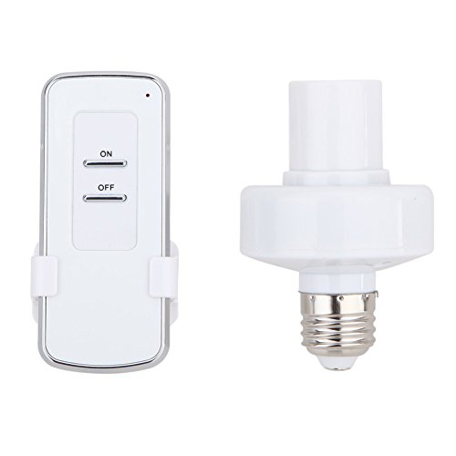 Whitelotous Remote Control Wireless Light Bulb Socket Cap