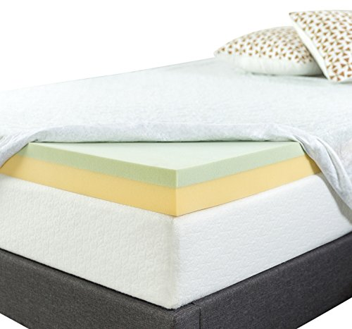 Softheaven Topper Cover All Around Zipper Non Skid Bottom Hypoallergenic Bed Bug Dust Mite