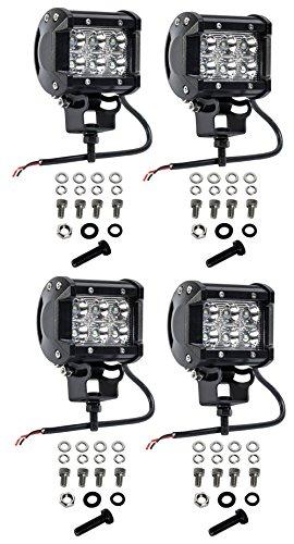 jahurd 18w light bar pack of 2 6 inch offroad work light spot beam for suv atv truck ford 4 u00d74