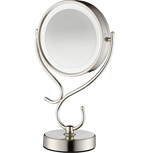 Conair Round Shaped Led Double Sided Lighted Makeup Mirror