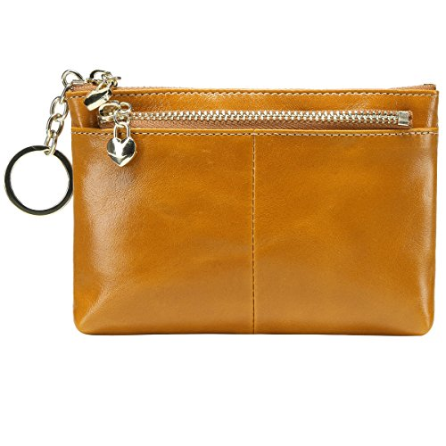 ff722144c3f8 ... Triple Zipper Leather Mini Coin Purse Card Holder with Key Chain. 3.  Pls confirm the dimensions according to our description. Id window.  Measures  3.