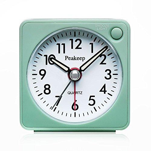 Bidason Alarm Clock, Cube Office Desk Clock, No Ticking