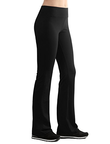 9abf7118ffea4 Made in USA - Lock and Love LL Womens Active Slim Fit Bootleg Yoga Pants.  Wear our leggings for yoga, exercise ...
