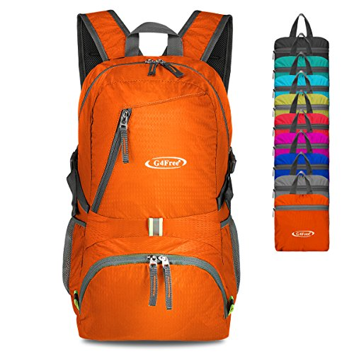 4107264361 G4Free 40L Lightweight Packable Durable Travel Hiking Backpack Handy ...