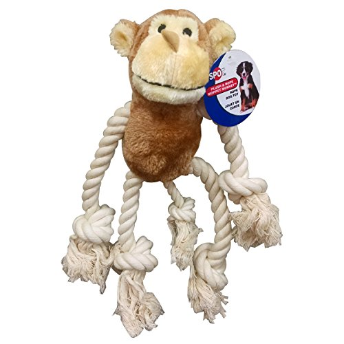 Mammoth Snakebiter Iguana Rope Dog Toy 16″ Assorted Colors