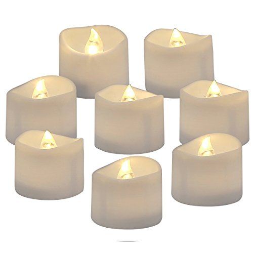 24 PCS Flameless Votive Candles Battery Operated LED Tea Light Warm Color